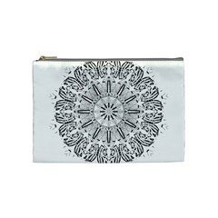 Art Coloring Flower Page Book Cosmetic Bag (medium)  by Nexatart