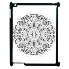 Art Coloring Flower Page Book Apple Ipad 2 Case (black)