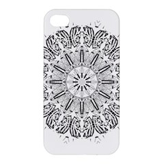 Art Coloring Flower Page Book Apple Iphone 4/4s Hardshell Case