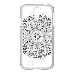 Art Coloring Flower Page Book Samsung Galaxy S4 I9500/ I9505 Case (white)