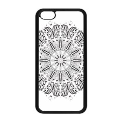Art Coloring Flower Page Book Apple Iphone 5c Seamless Case (black) by Nexatart