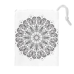 Art Coloring Flower Page Book Drawstring Pouches (extra Large)
