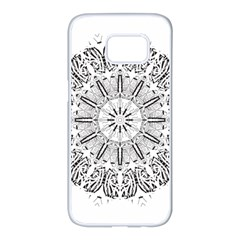Art Coloring Flower Page Book Samsung Galaxy S7 Edge White Seamless Case by Nexatart