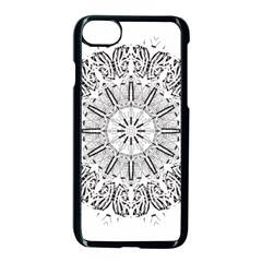 Art Coloring Flower Page Book Apple Iphone 7 Seamless Case (black) by Nexatart