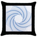 Spirograph Spiral Pattern Geometric Throw Pillow Case (Black) Front