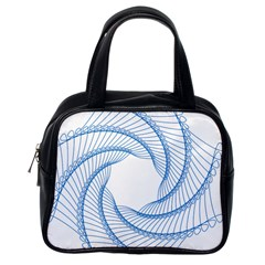 Spirograph Spiral Pattern Geometric Classic Handbags (one Side) by Nexatart