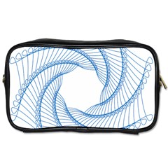 Spirograph Spiral Pattern Geometric Toiletries Bags 2 Side
