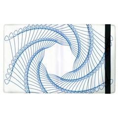 Spirograph Spiral Pattern Geometric Apple Ipad 2 Flip Case by Nexatart