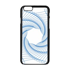 Spirograph Spiral Pattern Geometric Apple Iphone 6/6s Black Enamel Case by Nexatart