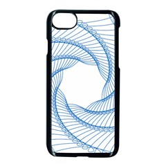 Spirograph Spiral Pattern Geometric Apple Iphone 7 Seamless Case (black) by Nexatart