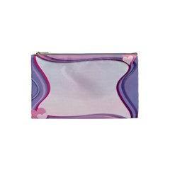 Background Image Greeting Card Heart Cosmetic Bag (small)  by Nexatart