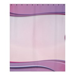 Background Image Greeting Card Heart Shower Curtain 60  X 72  (medium)