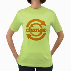 Think Switch Arrows Rethinking Women s Green T Shirt