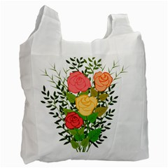 Roses Flowers Floral Flowery Recycle Bag (one Side) by Nexatart