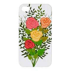 Roses Flowers Floral Flowery Apple Iphone 4/4s Premium Hardshell Case by Nexatart