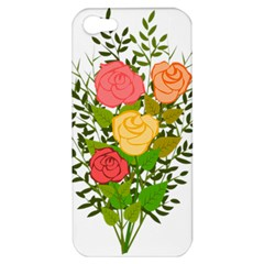 Roses Flowers Floral Flowery Apple Iphone 5 Hardshell Case