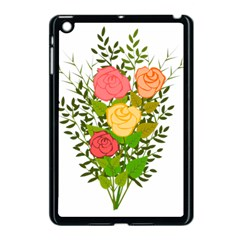 Roses Flowers Floral Flowery Apple Ipad Mini Case (black) by Nexatart