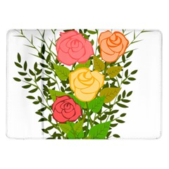 Roses Flowers Floral Flowery Samsung Galaxy Tab 10 1  P7500 Flip Case by Nexatart