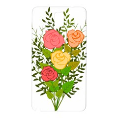 Roses Flowers Floral Flowery Samsung Galaxy Note 3 N9005 Hardshell Back Case