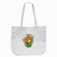 Roses Flowers Floral Flowery Tote Bag (white)