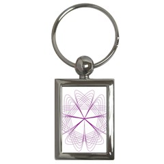 Purple Spirograph Pattern Circle Geometric Key Chains (rectangle)