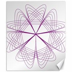 Purple Spirograph Pattern Circle Geometric Canvas 20  X 24   by Nexatart