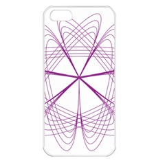 Purple Spirograph Pattern Circle Geometric Apple Iphone 5 Seamless Case (white) by Nexatart