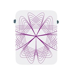 Purple Spirograph Pattern Circle Geometric Apple Ipad 2/3/4 Protective Soft Cases by Nexatart