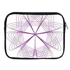 Purple Spirograph Pattern Circle Geometric Apple Ipad 2/3/4 Zipper Cases by Nexatart
