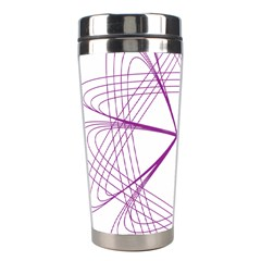 Purple Spirograph Pattern Circle Geometric Stainless Steel Travel Tumblers by Nexatart