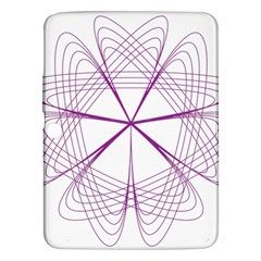 Purple Spirograph Pattern Circle Geometric Samsung Galaxy Tab 3 (10 1 ) P5200 Hardshell Case  by Nexatart