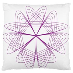 Purple Spirograph Pattern Circle Geometric Large Flano Cushion Case (two Sides)