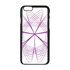 Purple Spirograph Pattern Circle Geometric Apple Iphone 6/6s Black Enamel Case by Nexatart