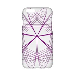 Purple Spirograph Pattern Circle Geometric Apple Iphone 6/6s Hardshell Case by Nexatart
