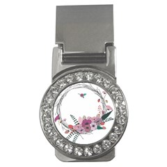 Flowers Twig Corolla Wreath Lease Money Clips (cz)  by Nexatart