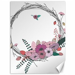 Flowers Twig Corolla Wreath Lease Canvas 36  X 48   by Nexatart
