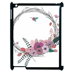 Flowers Twig Corolla Wreath Lease Apple Ipad 2 Case (black)