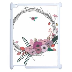 Flowers Twig Corolla Wreath Lease Apple Ipad 2 Case (white) by Nexatart