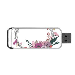 Flowers Twig Corolla Wreath Lease Portable Usb Flash (two Sides)
