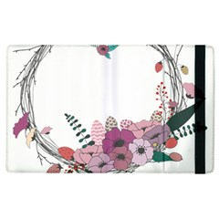 Flowers Twig Corolla Wreath Lease Apple Ipad 3/4 Flip Case by Nexatart