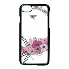 Flowers Twig Corolla Wreath Lease Apple Iphone 7 Seamless Case (black) by Nexatart