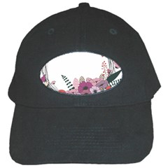 Flowers Twig Corolla Wreath Lease Black Cap