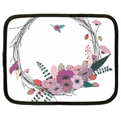 Flowers Twig Corolla Wreath Lease Netbook Case (xl)