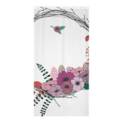 Flowers Twig Corolla Wreath Lease Shower Curtain 36  X 72  (stall)  by Nexatart