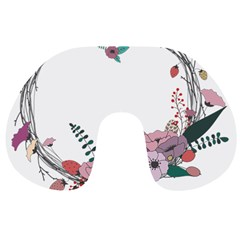 Flowers Twig Corolla Wreath Lease Travel Neck Pillows by Nexatart