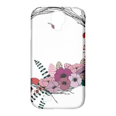 Flowers Twig Corolla Wreath Lease Samsung Galaxy S4 Classic Hardshell Case (pc+silicone) by Nexatart