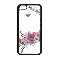 Flowers Twig Corolla Wreath Lease Apple Iphone 5c Seamless Case (black)