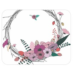 Flowers Twig Corolla Wreath Lease Double Sided Flano Blanket (medium)  by Nexatart