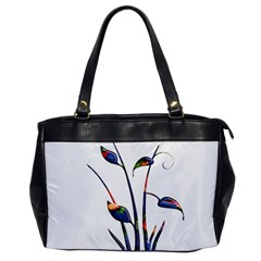 Flora Abstract Scrolls Batik Design Office Handbags by Nexatart