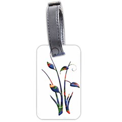 Flora Abstract Scrolls Batik Design Luggage Tags (one Side)  by Nexatart